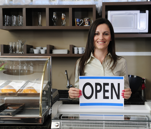 Small business Happy owner